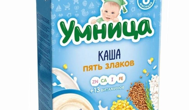 Молочные каши Умница: ассортимент и состав